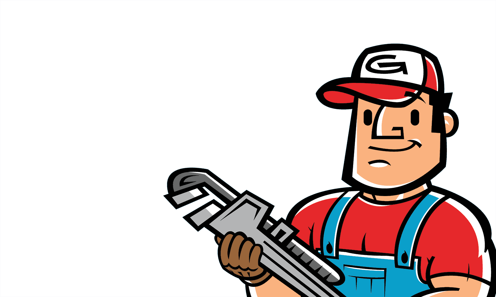 Gasman cartoon logo