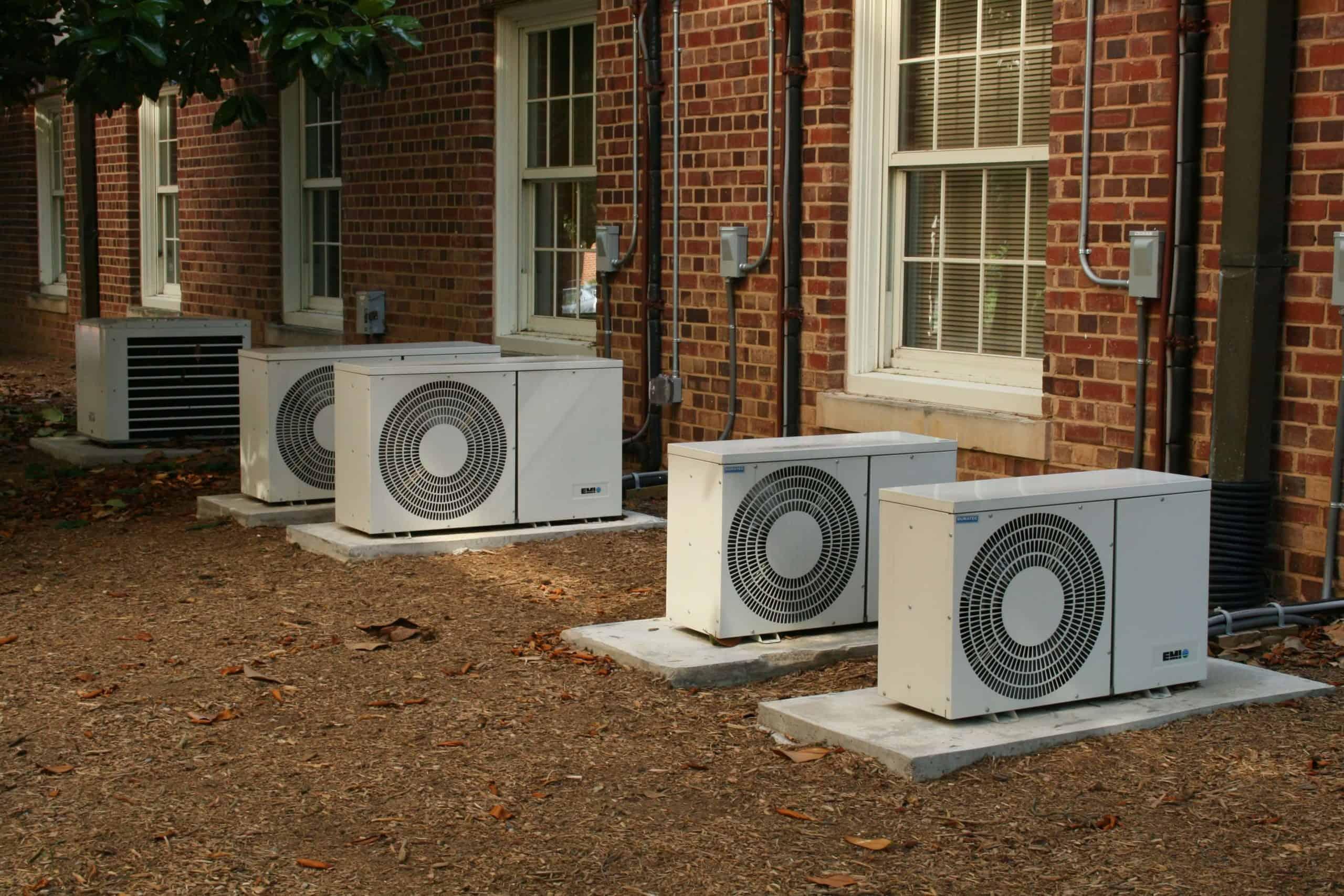 mini-split air conditioner outside