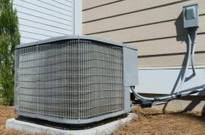 air conditioner outside house