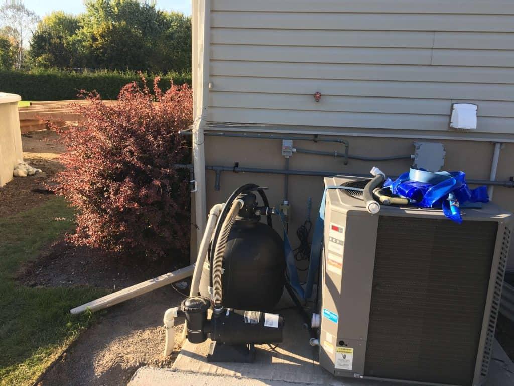 gas pool heater installed by gasman