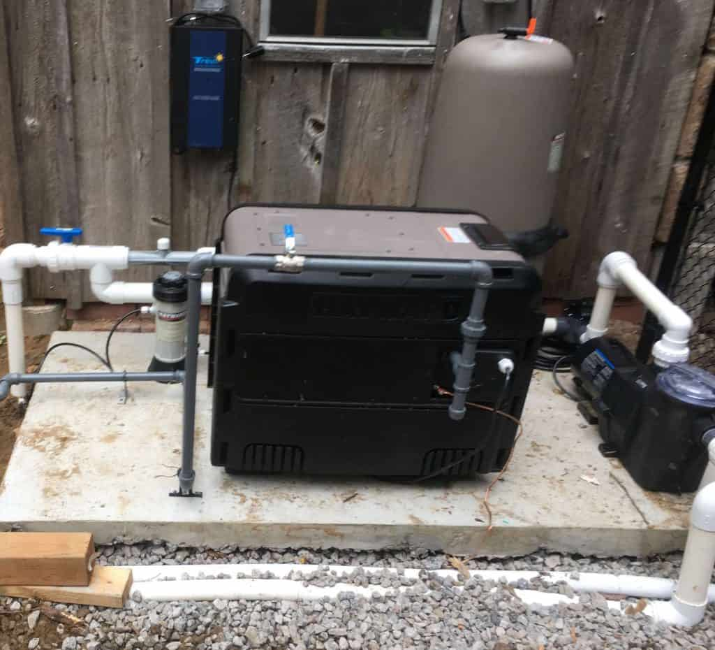 installed pool heater