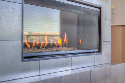 gas fireplace small