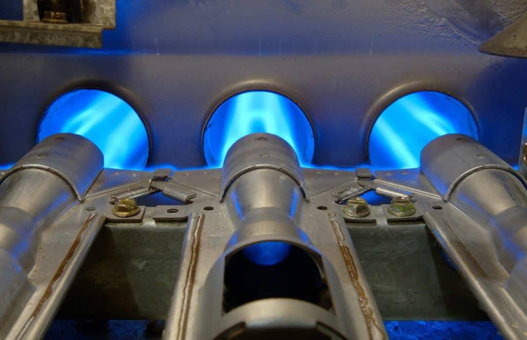 furnace burners burning natural gas