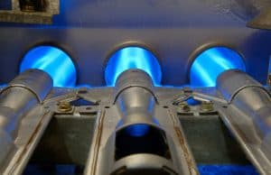 furnace burners burning natural gas