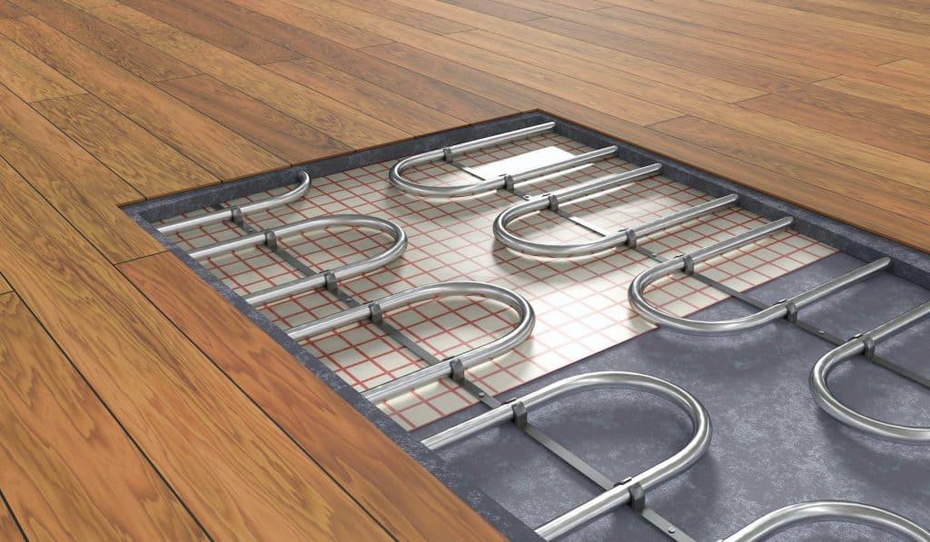 hydronic floor heat flipped